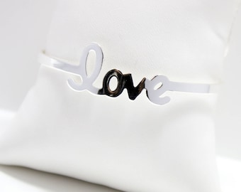 LOVE silver bracelet Bangle