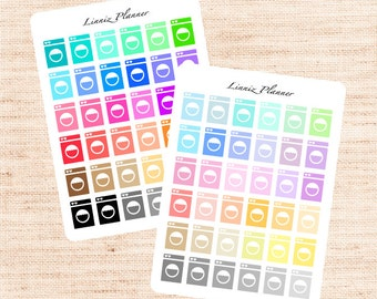 Washing Machine Functional Basics (matte planner stickers, Erin Condren, Happy Planner)