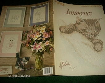 Cat Counted Cross Stitch Innocence Leisure Arts 467 Bob Harrison Counted Cross Stitch Leaflet