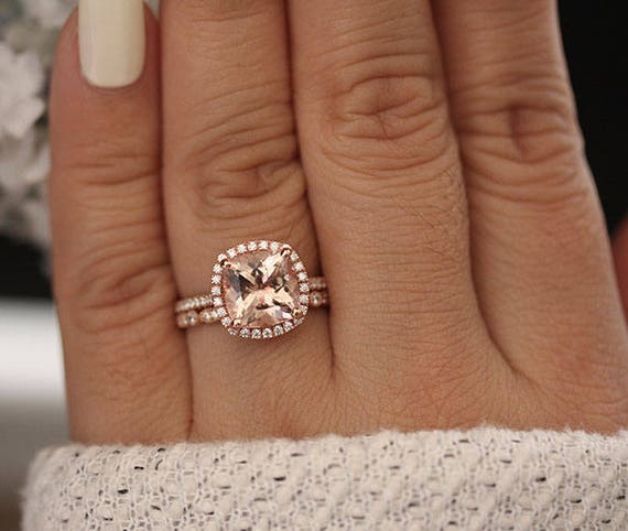 Average Cost Of Engagement Ring: Engagement Ring Morganite Low Cost Ring Morganite Affordable