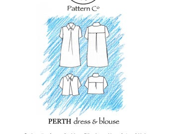 Perth dress/blouse paper sewing pattern