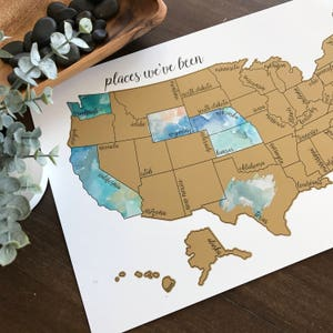 Scratch off map etsy watercolor scratch off map united states of america usa us dreamer gumiabroncs Gallery