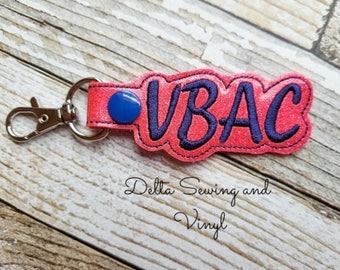 VBAC Keychain, VBAC Charm, VBAC Key Fob, Vaginal Birth After Cesarean Zipper Pull, New Mom Gift