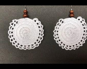 Crochet earrings dangle and drop