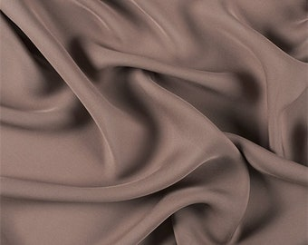 Latte Silk Double Georgette, Fabric By The Yard
