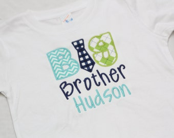 Big BrotherTie Shirt or Little Brother Tie Bodysuit - Personalized