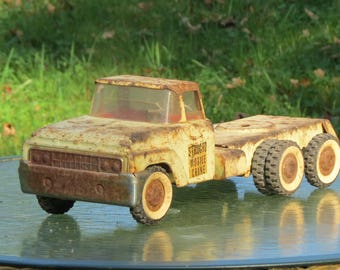 Rusty Toy Truck Vintage Structo Mobile Crane Truck