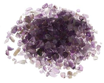 65g Amethyst Purple Gemstone MIneral Rock Chips