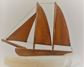 1962 hand made wood sail boat