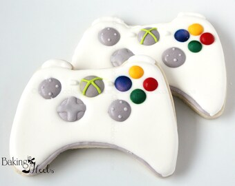 Game Controller Cookie, Xbox, Playstation, Video Game Controller, Custom Cookies, Boy Cookies, Gamer, Man Cookies, Father's Day Cookies