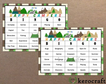 CAMPING BINGO - 40 Cards