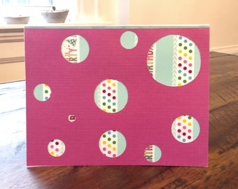 Happy Birthday Polka Dots Fun | Handmade Card