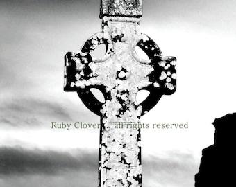 CELTIC CROSS, Slane, Co. Meath, IRELAND, High Cross, Irish Photography, Old Cemetery Photo, St Patrick, Irish Gift, Ancient Graveyard, Celt