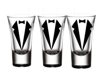 Groom Party Glasses - Custom Glasses - Bachelor Party Shot Glass - Best Man Glasses - Groomsman Gift- Shot Glass Gift - Wedding Party Gifts-