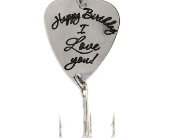 "LGU(TM) Personalized Hook Fishing Lure for Gift - ""Happy Birthday Lure I Love You Lure"""