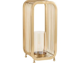 Emily Maxwell Luxury Glass Cylinder Candle Holder - W 20 cm / D 20.3 cm / H 45 cm / 2.2 kg