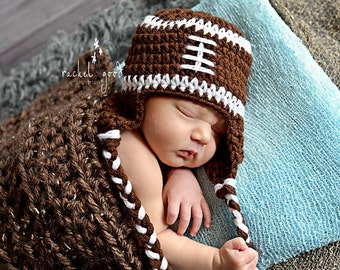 Crochet Football Hat, Newborn Football Hat, Football Hat, Baby Boy Hat, Toddler Hat