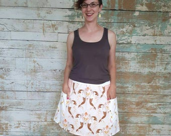 Peachy Coral Mermaid Skirt size Medium