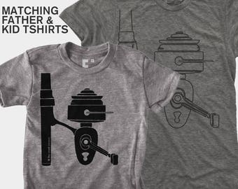 Dad Gift, Dad and Me Shirt, Father Son Matching Shirt, Fishing Reel, Matching Dad Son, Daddy Daughter Shirt, Dad Baby Matching, Fishing Gift