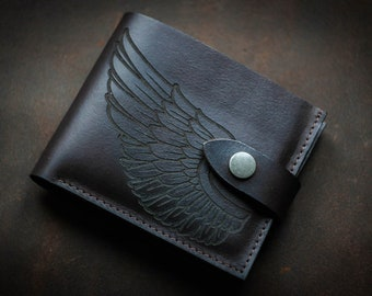 black leather wallet,Leather handmade wallet