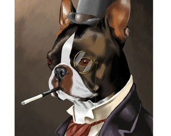 American Gentleman - Boston Terrier Art Print
