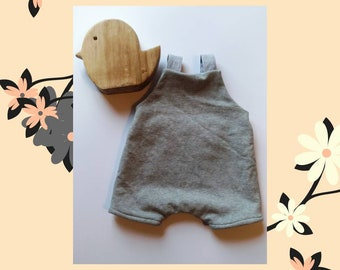 Romper for baby in cotton lined made by hand