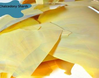 Chalcedony Shards - Lampwork Glass Shards - CoE 96 - 5g