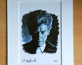 DOCTOR WHO  ~ The 12th Doctor. Limited Edition, signed and numbered 4 x 6 inch mounted print.