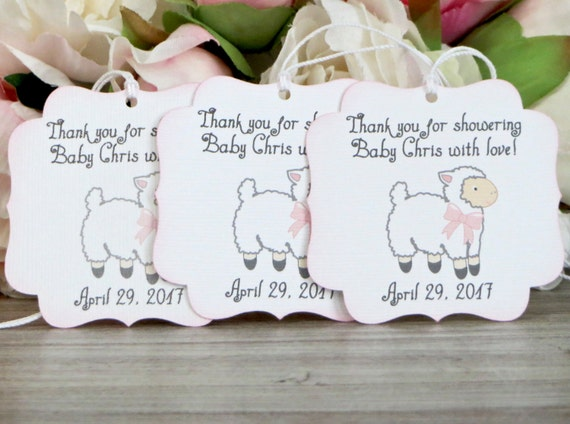 Lamb Baby Shower Favor Tags, Girl Baby Shower Thank You Tags, Mary Had A  Little Lamb Baby Shower Gift Tag From WildSugarberries On Etsy Studio