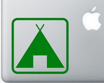 "4"" Camping Tent Vinyl Decal"