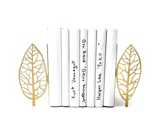 Metal Bookends Golden edition Trees //functional decor for modern home // housewarming / christmas gift // FREE SHIPPING WORLDWIDE