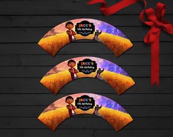 Personalized Coco Cupcake Wrapper Miguel Birthday Party Printable DIY - Digital File