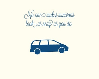 Minivan Mother's Day- Greeting card