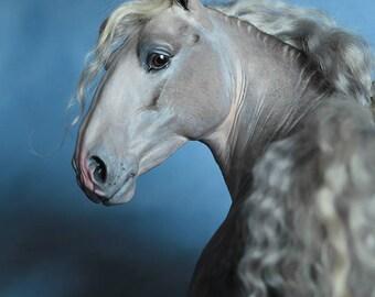 Horse FOR ORDER. OOAK horse sculpture. Horse model. Horse art.