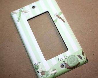 Dragonfly Kids Bedroom Baby Nursery Single Light Switch Cover LS0018