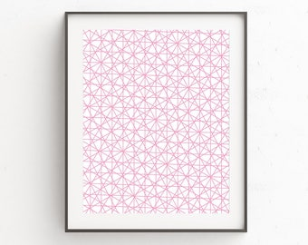 Pink Wall Art, Geometric Wall Art, Scandinavian Art, Geometric Art, Pink Nursery Decor, Geometric Print, Wall Art Prints, Printable Wall Art
