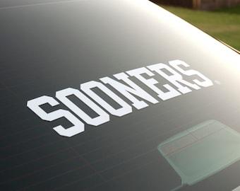 SOONERS - Vinyl Decal - University of Oklahoma