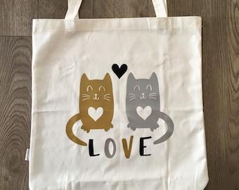 Cats Love Tote Bag