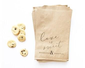 Custom Wedding Favor Bags | Favors | Printed Kraft Bags | Wedding | Shower | Bridal
