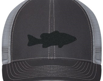 Grouper Fish Embroidered Trucker Style Hat