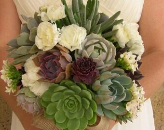 Ramo de suculenta, suculenta ramo de novia, ramo de Novia de la boda