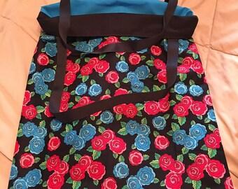Handmade Reversible Roses Bag