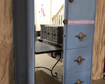 Dresser / Cabinet / Armoire with mirror for Kids room, guest room or entry