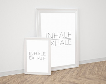 Wall Art Prints - Inhale Exhale