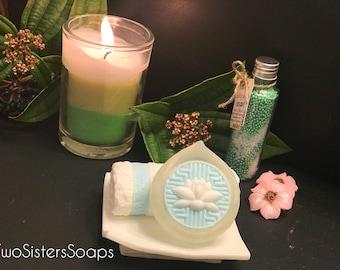 "Soap set ""Paradise SPA"" SOAP ART 3 piece set, 3 soaps in one"