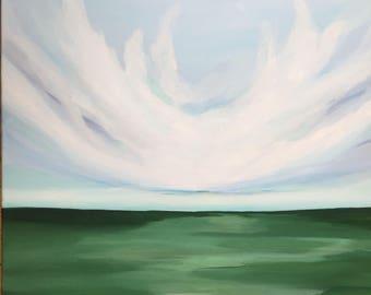 Acrylic Landscape Painting Original • Landscape 50x50 cm on Canvas by Minaa - ART