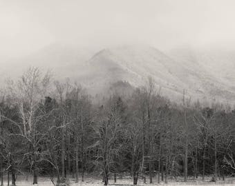 Appalachia, cades cove, mountain photography, landscape photography, mountain print, winter photography, winter landscape,