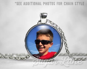 Photo Necklace - Mother's Day Gift - Picture Necklace - Photo Jewelry - Personalized Photo Necklace - Memory Necklace - Keepsake Jewelry