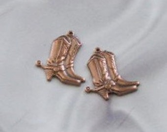 These Boots Were Made for Walking 4 Charms Antique Copper Finish