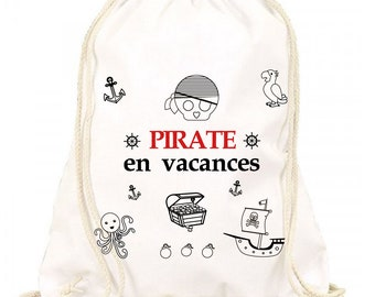 Backpack coloring - pirate theme